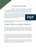 Handlooms in India