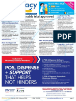 Pharmacy Daily for Mon 29 Feb 2016 - Cannabis trial approved, Alliance seals Arrow deal, Pregnancy test recall, Weekly Comment and much more