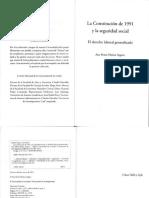Libro La Constitucion de 1991 y La Seguridad Social El Derecho Laboral Generalizado