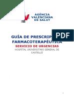 Guia de Prescripcion Farmacoterapeutica en Urgencias