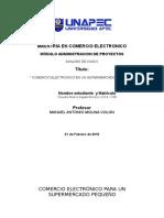 ANALISIS DE CASO I. COMERCIO ELECTRONICO DE UN SUPERMERCADO PEQUENO Tarea