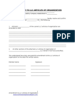 Amendment to LLLC Articles of Organization (1)