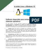Windows 10 y Ubuntu Comparacion