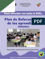 Plan de Reforzamiento de Aprendizajes