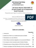 Perspectivas del Sector Eléctrico 2016-2020