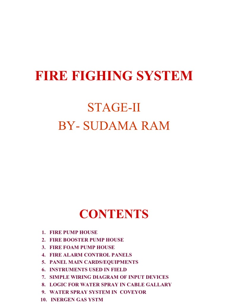 Fire fighting system in power plant_ppt on fire pump wiring diagram Fire Detector Wiring Diagram Simple Circuit Schematic Fire Engine