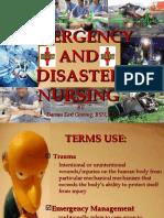 EMERGENCY AND DISASTER NURSING