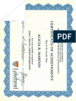 tribes certificate