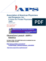 AAPS vs USA & Sebelius