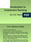 Introduction to Investment Banking