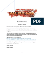 Walking Dead Play test Rulebook