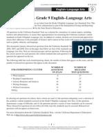 STAR English-LanguageArts Grade09 2009