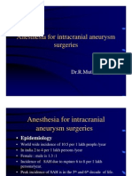 anesthesia for intracraneal aneurysm