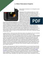 Il segreto trapelato a Nikon Fotocamera Scoperto