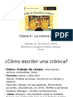 Charla 6 - La Crónica II
