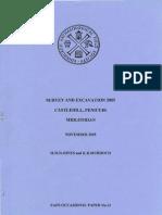 Survey and Excavation 2005 Castlehill, Penicuik, Midlothian