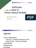 Abramson - Inmon vs Kimball