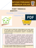 Clima y Comodidad Termica