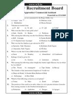 RRB TA CA Exam Previous Paper