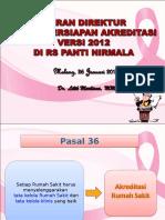Presentasi Peran Direktur Dalam Persiapan Akreditasi Jan 2016ppt
