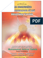 Destructive Consequences of Not Observing Purdah (Intermingling of sexes)
