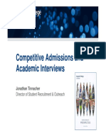 Competitive Admissions and Academic Interviews - An Imperial Case Study