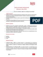 C II Quinta Jornada Institucional Cohorte 2 Año 2015