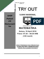 Naskah Soal to Un Matematika Smp Kab Smg 2016 Paket 24