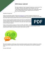 Mengubah Design SMS dalam Android