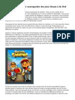 Comment faire pour sauvegarder des jeux Steam ? de Dvd