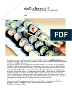 Sushi Con Thermomix _ Velocidad Cuchara