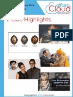 Current Affairs Study PDF - January 2016