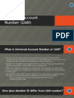 Universal Account Number and Registration of UAN