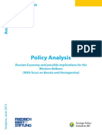 Russian Economy and possible implications for the Western Balkans (With focus on Bosnia and Herzegovina)