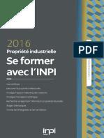 Inpi-catalogue Formation Externes 2016 1