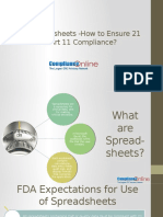 Excel Spreadsheets- How to Ensure 21 CFR Part 11 Compliance
