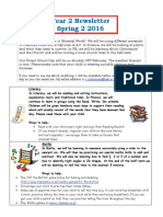 Year 2 Spring 2 Newsletter 2016