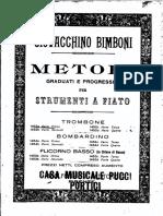 Bimboni - Metodo Trombone