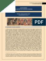 316. LA EDUCACION MEDIEVAL Y LA FORMACION DE LA ESCUELA MODERNA