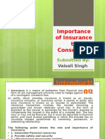 Importance of Insurance to Consumers