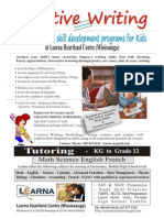 Creative writing for kids and other tutoring programs from K. to Gr. 12 at Learna Heartland Mississauga Ph