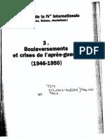 Rodolphe Prager, Les Congrès de la IVe Internationale. Tome 3. Bouleversement et crises de l'après-guerre, 1946-1950