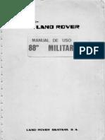 Land Rover 88 Militar Manual