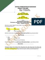 Contoh Kontrak Pembangunan Rumah Type 45 (Blog)