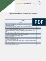 Fi+ƒ-â de consemnare a dezvolt-ârii vorbirii 6 ani