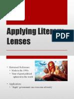 applying literary lenses