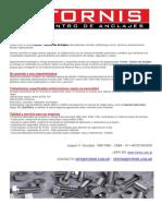 Catalogo de Bulonería, Tornillería y afines
