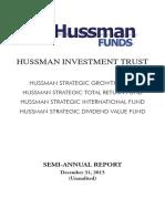 Hussman Funds Semi-Annual Report