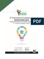ICEDU 2016 Brochure