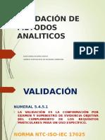 Validacion de Metodos Analiticos Siama